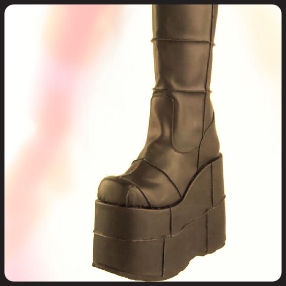 authentic no sale tax the latest Demonia Shoes | Stack Pleaser Unisex Platform Boots | Poshmark